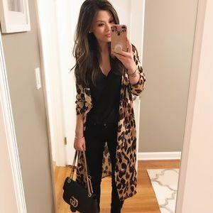 Jackets & Blazers - Leopard Duster